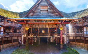 Ricostruzione del Globe Theatre. Il teatro originale venne distrutto durante una rappresentazione dell'Enrico VIII nel 1613.