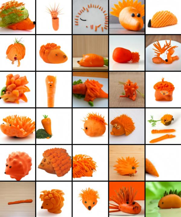 DALL-E riccio carota