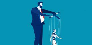 Un androide come marionetta
